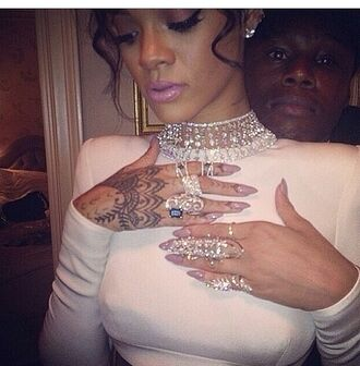 jewels rihanna ring sparkle jewelry rihanna blouse