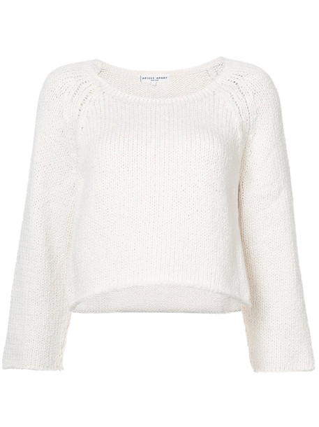 Apiece Apart sweater cropped sweater loose cropped women white cotton knit