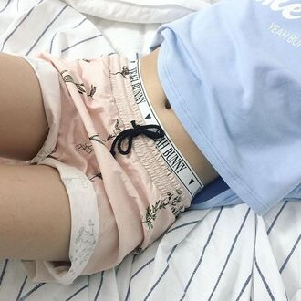 shorts yeah bunny cute comfy floral pale flowers pastel girly