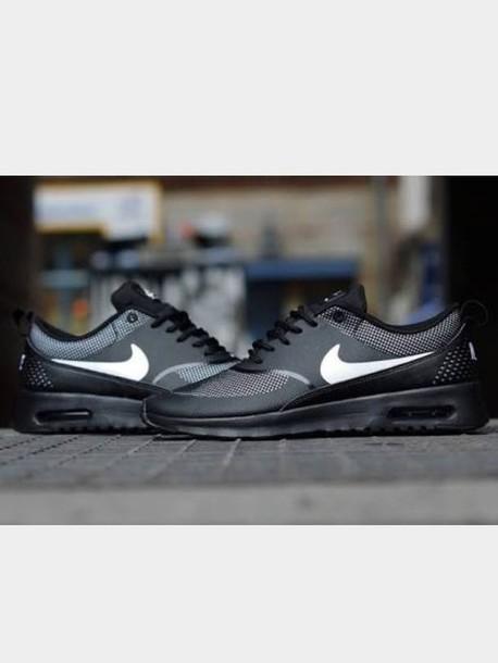 on sale 838a5 8d05e shoes nike air max nike air max thea nike air max thea black black white  nike