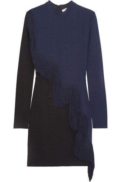 Stella McCartney | Alba fringed crepe mini dress | NET-A-PORTER.COM