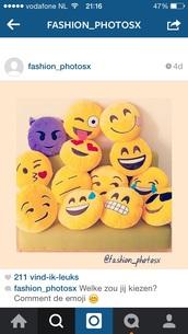 home accessory,emoji print,pillow,emoji pillow