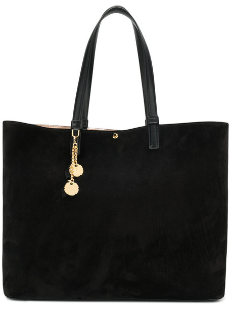 metallic women bag tote bag leather black