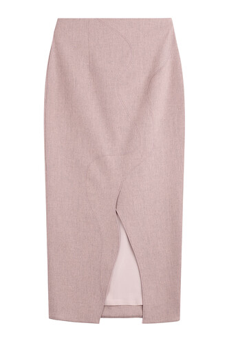 skirt midi wool rose