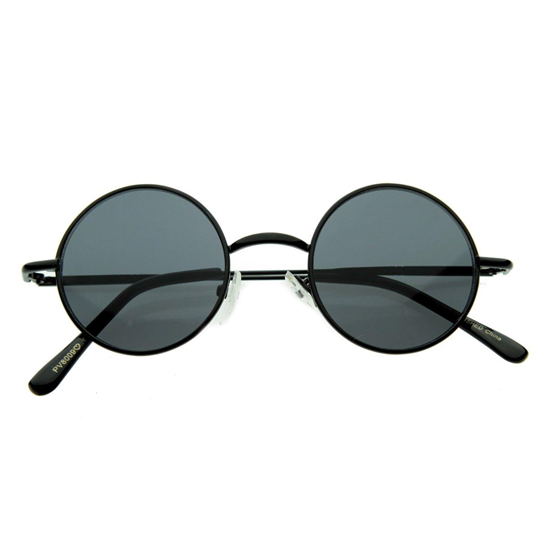 e0cb08a8 Amazon.com: Small Retro-Vintage Style Lennon Inspired Round Metal Circle  Sunglasses, Black: Shoes