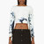 anthony vaccarello blue bleached denim boatneck crop top