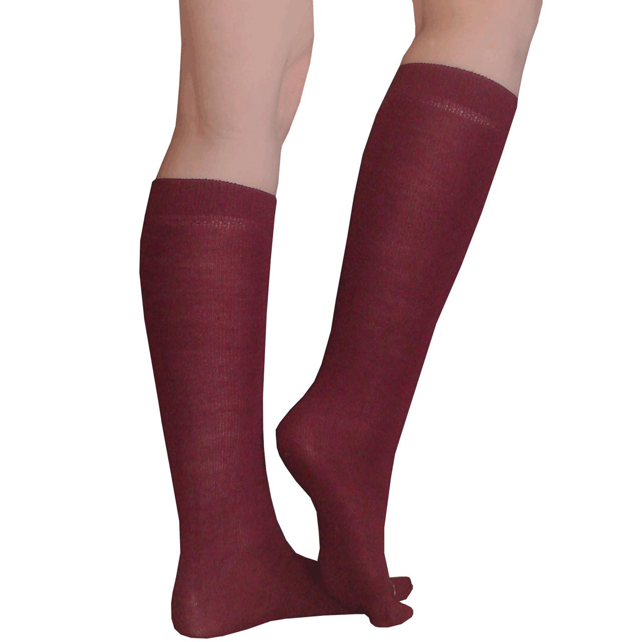 Thin Solid Maroon Socks