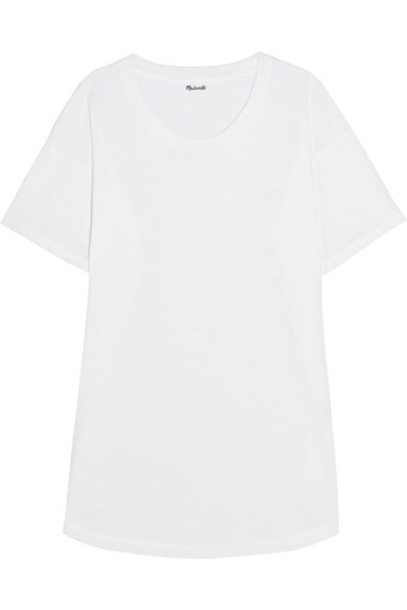 Madewell t-shirt shirt t-shirt white cotton top