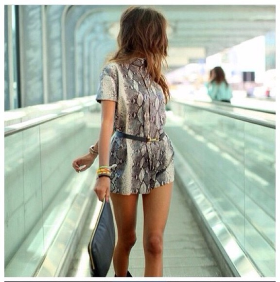 jumpsuit dress snakeskin chic