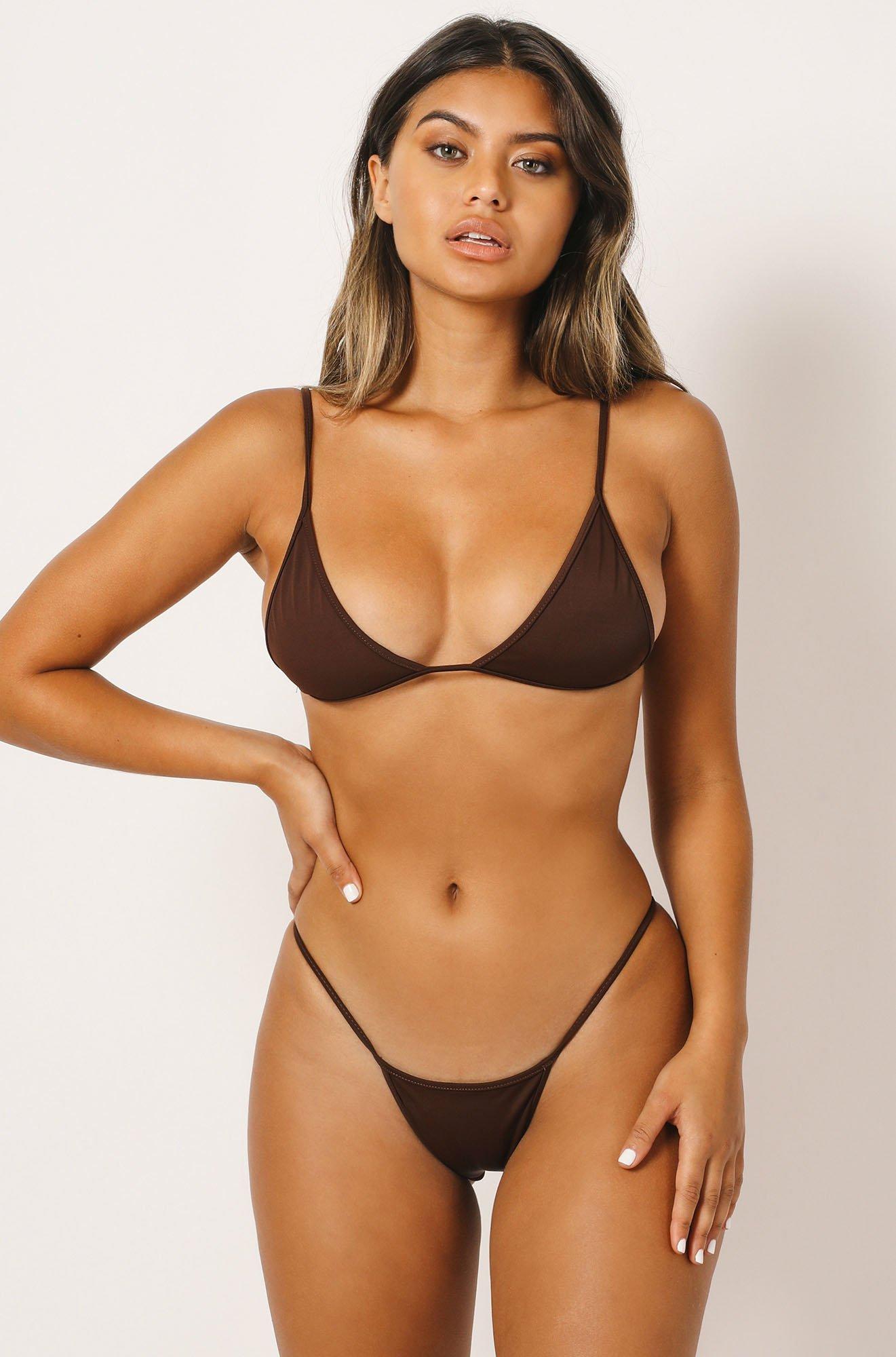 Kelly Bikini Top in Brown