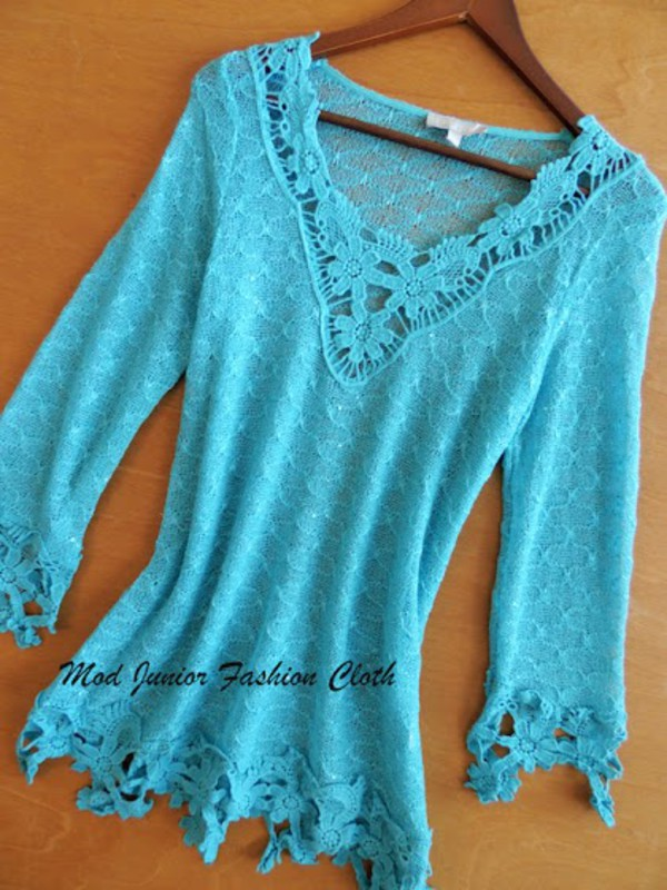 top aqua long sleeve top sheer top sheer cover up vintage boho look vintage outfit floral detailed detailed turquoise
