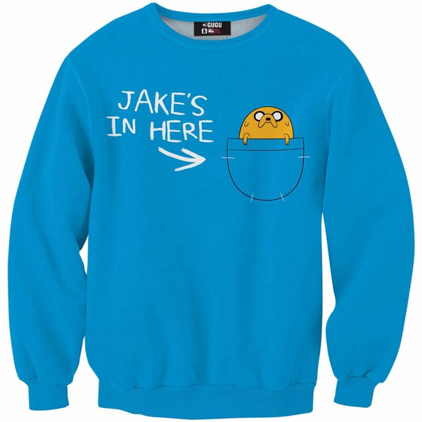 jacket adventure time sweater blue fall outfits fall sweater tumblr winter sweater winter outfits