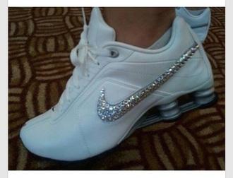 shoes white sparkle sliver nike nike running shoes nike shoes