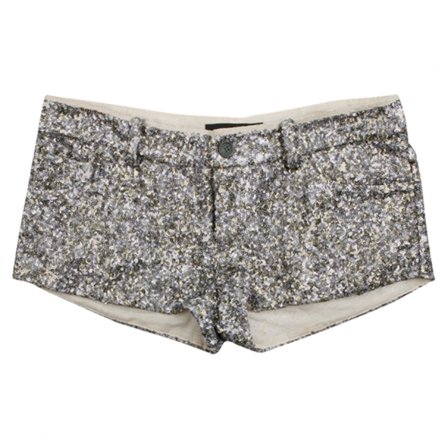 Mini shorts with sequins zadig & voltaire silver size s