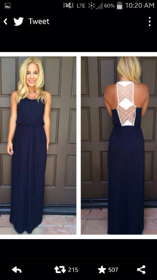 dress back navy open back dresses maxi dress cute summer dress long dress blue dress navy dress with lace back long dark blue style elegancy elegant dress prom dress girly prom style hairstyles blue maxi dress white lace in back navy white