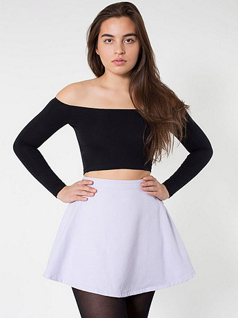 Natural denim circle skirt