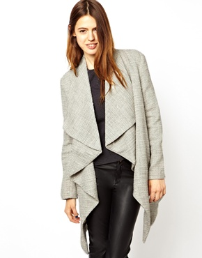ASOS | ASOS Textured Waterfall Coat at ASOS