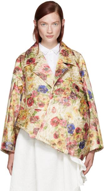 Comme Des Garçons Multicolor Floral Jacquard Jacket