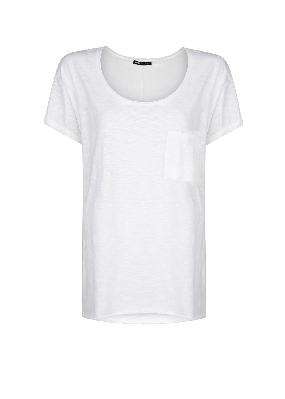 Slub-cotton t-shirt -  							T-shirts and tops - 							Women - 							MANGO