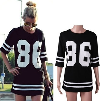 dress black t-shirt dress varsity