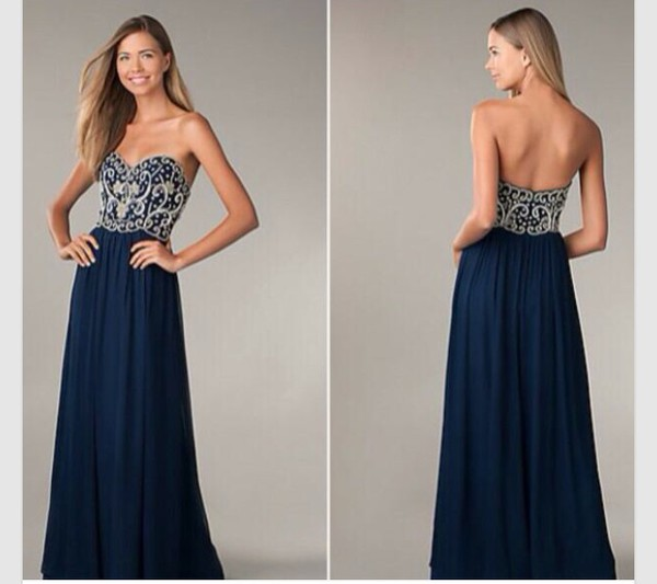 formal dress blue dress