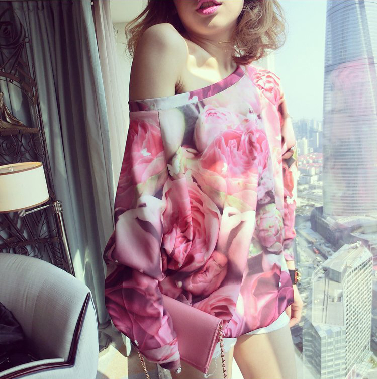 Rose print sweater from syndrome [korea & japan style] on storenvy