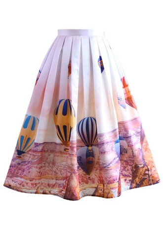 skirt hot air balloon festival print midi skirt chicwish midi skirt printed skirt