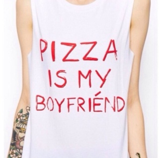 shirt top singlet pizza boyfriend true love