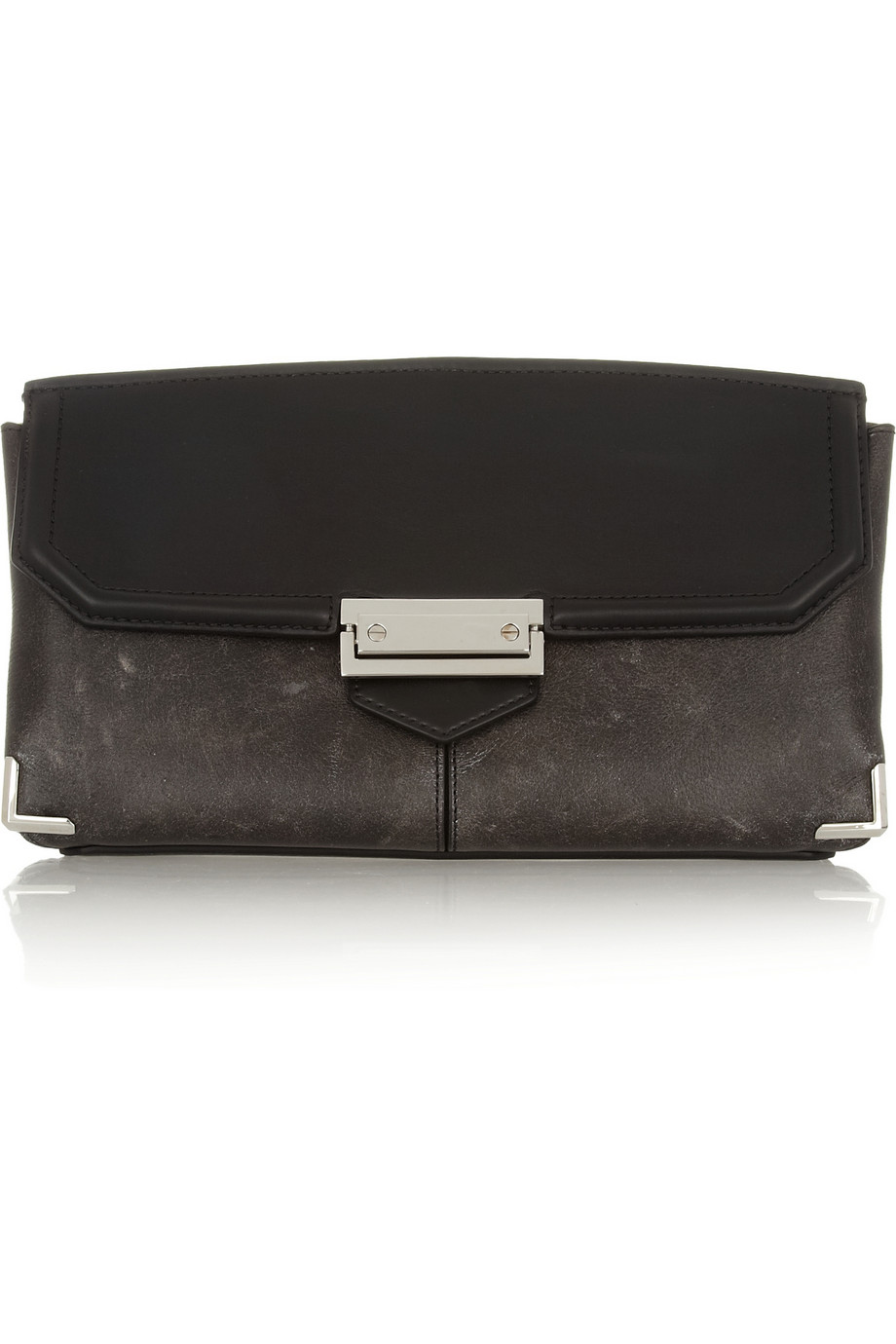 Prisma Skeletal textured-leather clutch  | THE OUTNET