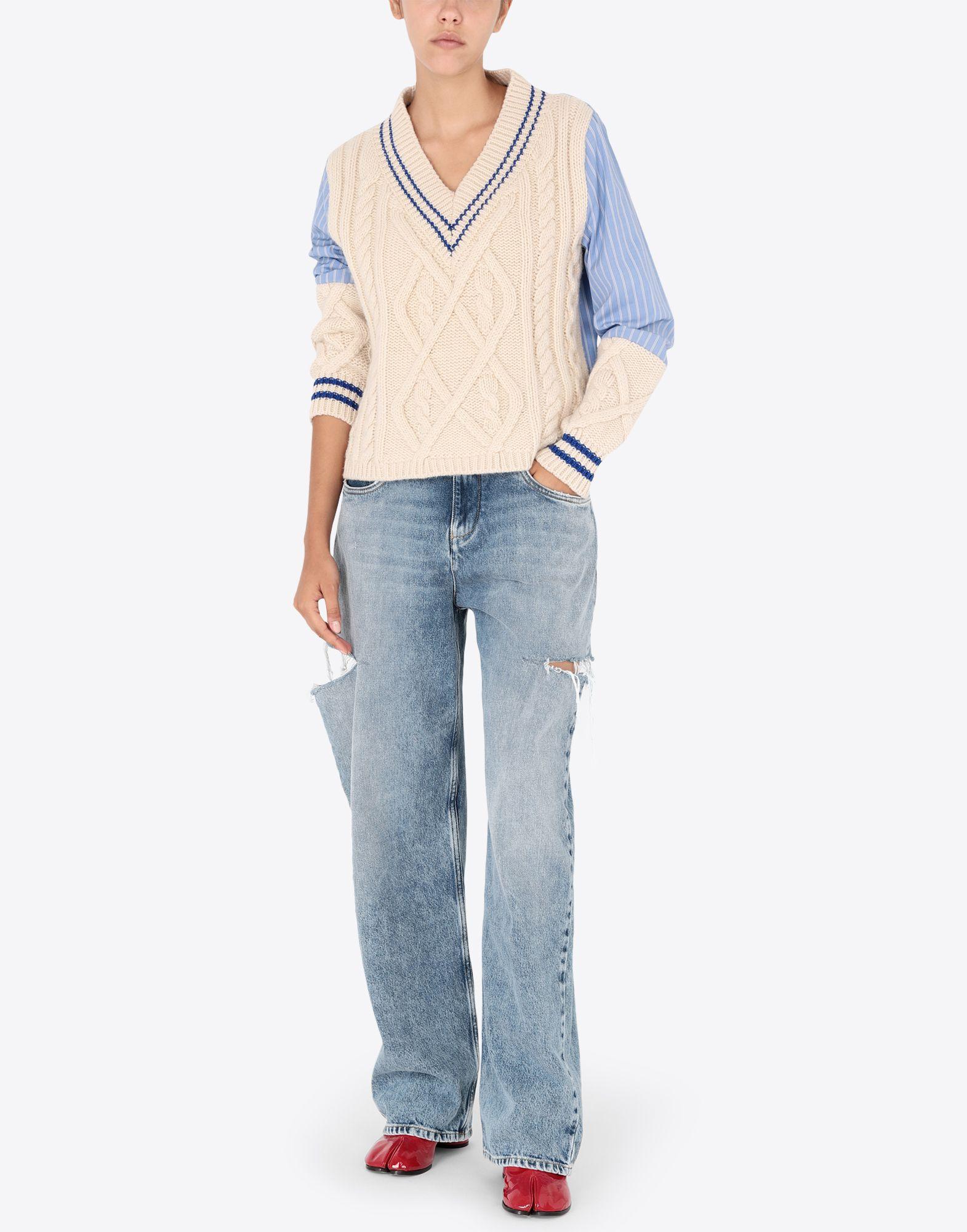 Maison Margiela Denim Jeans With Slash Details Women | Maison Margiela Store