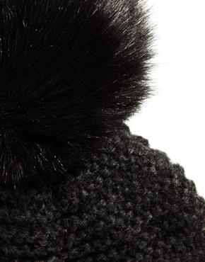 ASOS | ASOS Oversized Faux Fur Pom Beanie at ASOS