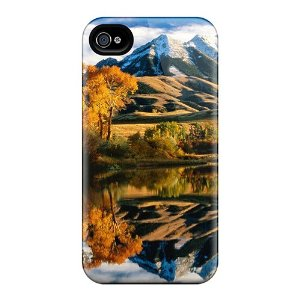 Proof protection case cover for iphone/ hot beautiful mountains reflection in the lake phone case: cell phones & accessories