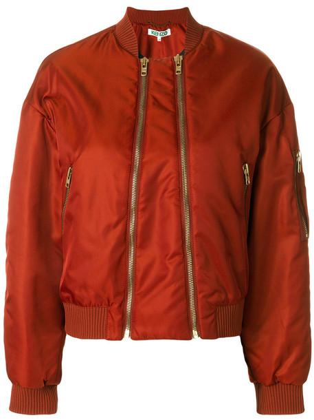 Kenzo jacket bomber jacket zip women cotton yellow orange
