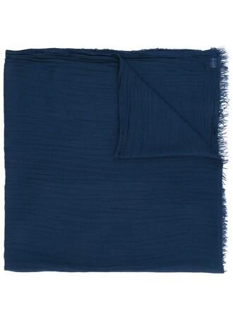 women scarf blue