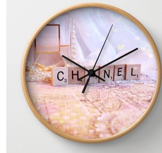 home accessory chanel clock cute bedroom teen