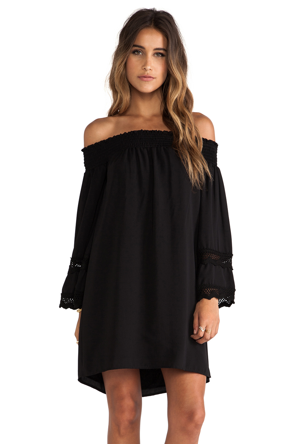 VAVA by Joy Han Harley Off Shoulder Dress in Black from REVOLVEclothing.com