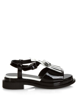 tassel sandals leather sandals leather white black shoes