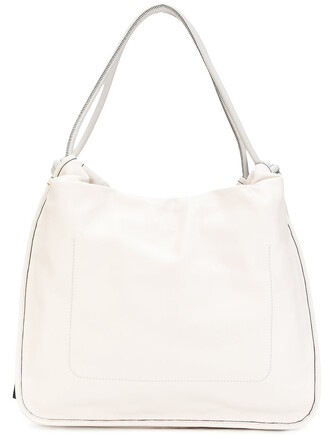 women drawstring bag leather nude