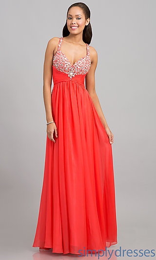 Dress, Full Length Sweetheart Evening Gown - Simply Dresses
