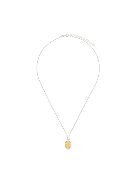 True Rocks mini women necklace gold silver grey metallic jewels