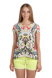 t-shirt,print,girl,lemons,lemon print,fusion sweatshirts,fusion clothing,fusion sweters,clothes,streetstyle