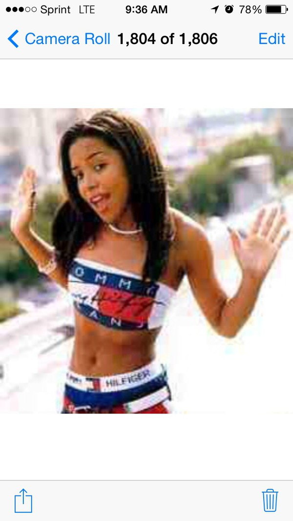 blouse aaliyah tommy hilfiger bandeau swimsuit vintage