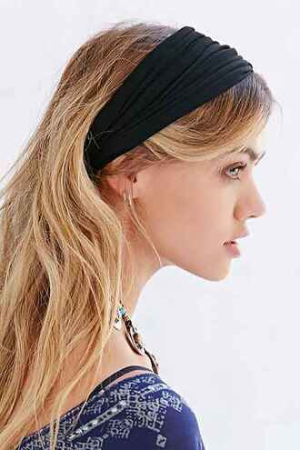 hair accessory headband black heandband turban head scarf urban outfitters
