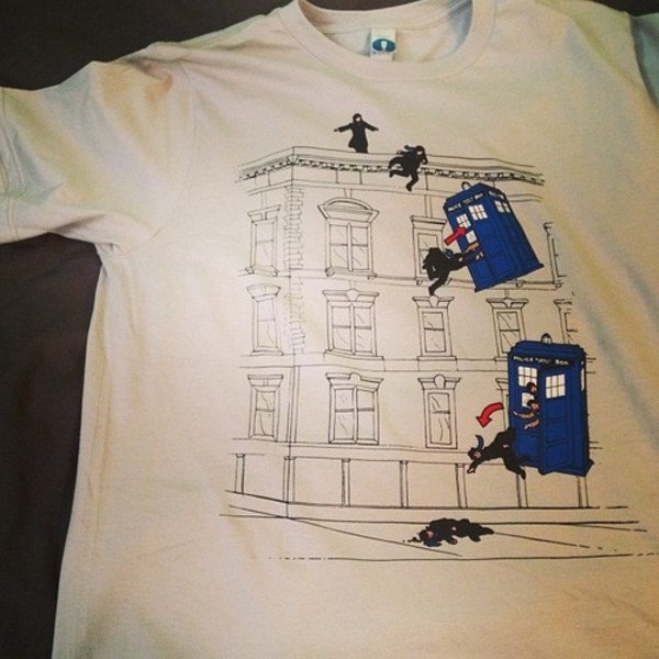 t-shirt dr who sherlock top t-shirt wholock theroy
