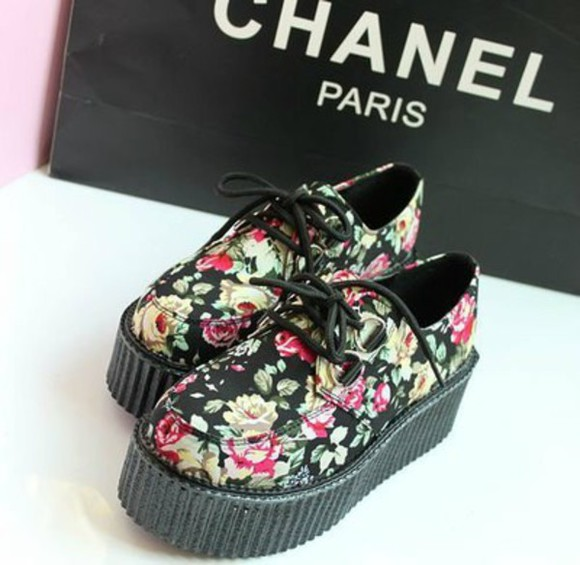 platform shoes pastel goth creepers rad sweet hipster cheap fall outfits sneakers floral floral lolita anime K-pop japan back to school free shipping creepers high heels