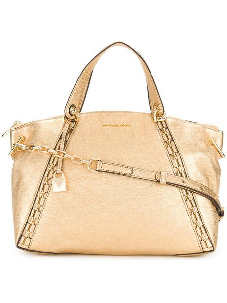 MICHAEL Michael Kors women leather grey metallic bag