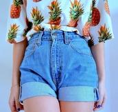 fruits,shirt,t-shirt,ananas tshirt,ananas,Fruity-Girl,shorts