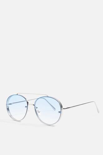 sunglasses aviator sunglasses blue