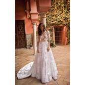 dress,2015 berta bridal gowns,bridesmaid,trainers,royal blue,illusion