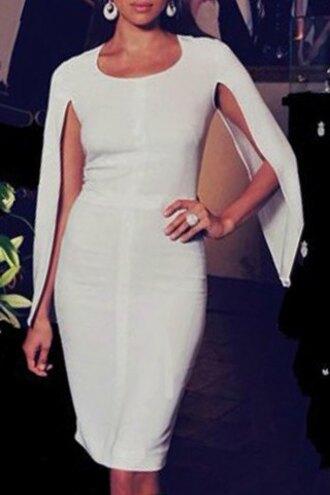 dress white white dress classy